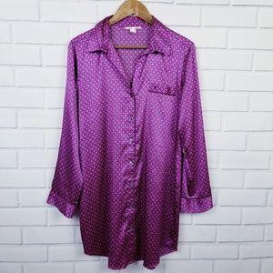 Victoria's Secret Button Up Satin Sleep Shirt